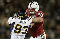 1 December 2007: Chris Marinelli during Stanford's 20-13 win over California in the 110th Big Game at Stanford Stadium in Stanford, CA. Stanford leads the rivalry series over California, 55-44-11.