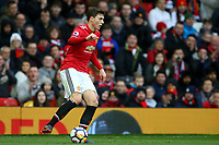 Victor Lindelof of Manchester United during the Premier League match between Manchester United and Swansea City at the Old Trafford, Manchester, England, UK. Saturday 31 March 2018