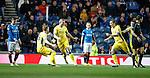 Blair Alston (R) celebrates his goal for St Johnstone