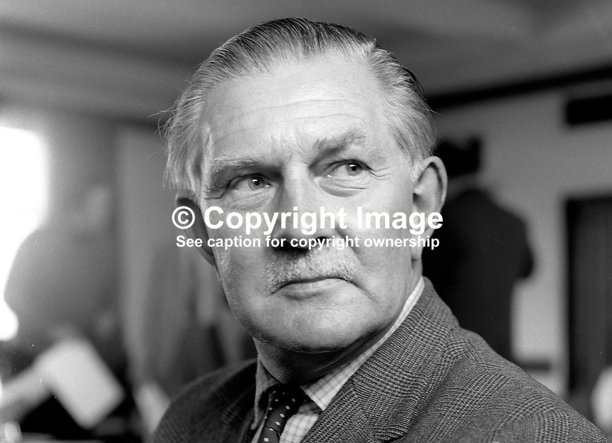 Hamilton Simonds-Gooding, Liberal Party candidate, North Down, 1970 UK General Election, June 1970. 197006000215b<br />