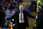 Sean Dyche manager of Burnley reacts to the fourth official during the Premier League match at Turf Moor, Burnley. Picture date: 2nd February 2020. Picture credit should read: Andrew Yates/Sportimage