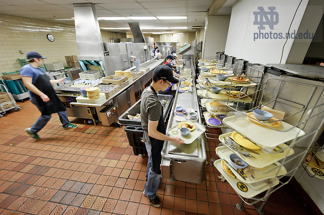 Feb 11, 2013; Dirty dish line at North Dining Hall...Photo by Matt Cashore/University of Notre Dame