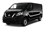 2017 Nissan NV300 Optima 4 Door Cargo Van Angular Front stock photos of front three quarter view