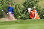 Wales Gareth Bale hits a shot out of the bunker <br /> <br /> Golf - Day 1 - Celebrity Cup - Saturday 4th July 2015 - Celtic Manor Resort  - Newport<br /> <br /> &copy; www.sportingwales.com- PLEASE CREDIT IAN COOK