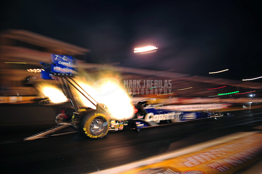 Sept. 30, 2011; Mohnton, PA, USA: NHRA top fuel dragster driver Brandon Bernstein during qualifying for the Auto Plus Nationals at Maple Grove Raceway. Mandatory Credit: Mark J. Rebilas-