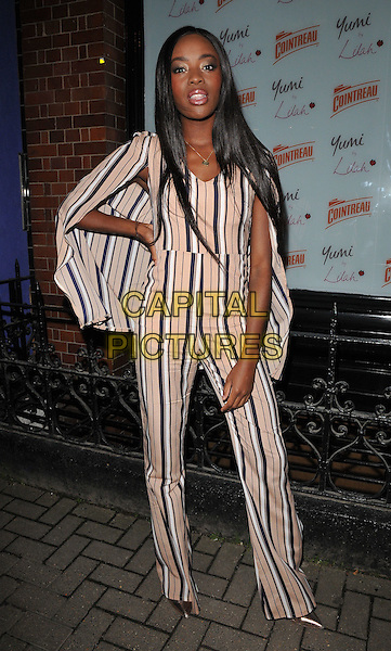 AJ Odudu attends the Lilah Parsons debut capsule collection for Yumi launch party, 15 Bateman Street, Bateman Street, London, UK, on Tuesday 01 December 2015.<br /> CAP/CAN<br /> &copy;Can Nguyen/Capital Pictures