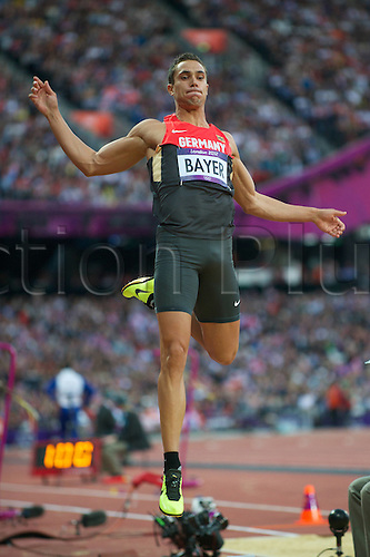 03.08.2012. London, England. Olympic Games London 2012 Long jump men Qualification Bayer Sebastian ger