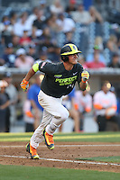 Ben Rortvedt (14) of the West team runs to first base during the 2015 Perfect Game All-American Classic at Petco Park on August 16, 2015 in San Diego, California. The East squad defeated the West, 3-1. (Larry Goren/Four Seam Images)