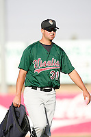 Matt Torra of the Visalia Oaks during a California League baseball game on April 9, 2007 at Stater Bros. Stadium in Adelanto, California. (Larry Goren/Four Seam Images)