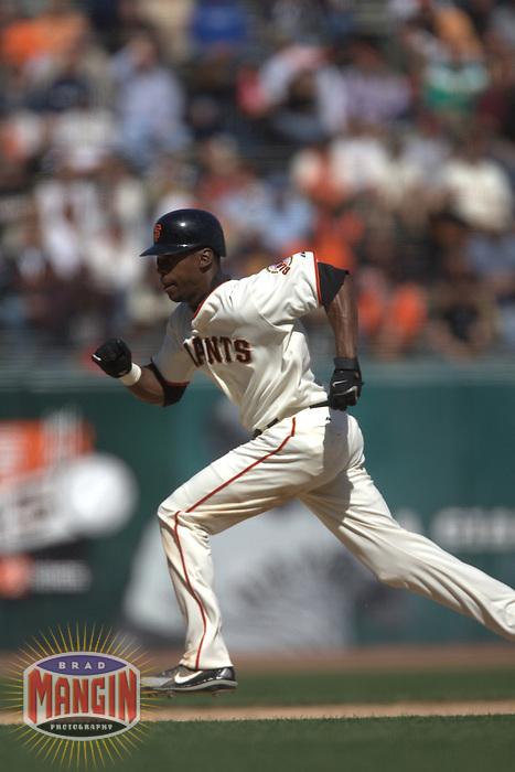 Fred Lewis. Baseball: Colorado Rockies vs San Francisco Giants at AT&T Park in San Francisco, CA on September 14, 2006. Photo by Brad Mangin