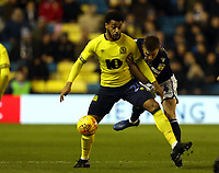 Shaun Hutchinson of Millwall and Joe Nuttall of Blackburn Rovers during Millwall vs Blackburn Rovers, Sky Bet EFL Championship Football at The Den on 12th January 2019
