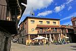 Traditional architecture town hall Ayuntamiento, Garganta la Olla, La Vera, Extremadura, Spain