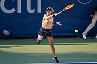 Washington, DC - August 3, 2019: Fanny Stollar (HUN) in actin during the WTA Woman's Doubles Championship at Rock Creek Tennis Center, in Washington D.C. (Photo by Philip Peters/Media Images International)