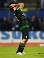 FUSSBALL   1. BUNDESLIGA   SAISON 2012/2013    19. SPIELTAG Hamburger SV - SV Werder Bremen                          27.01.2013 Sokratis Papastathopoulos (SV Werder Bremen) ist enttaeuscht