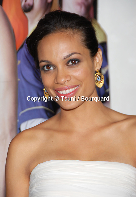 Rosario Dawson  arriving at the CLERK 2 Premiere at the Arclight Theatre  In Los Angeles. July 11,  2006.