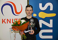 Rotterdam, The Netherlands, March 20, 2016,  TV Victoria, NOJK 14/18 years, Runner up boys 18 years:  Jesper de Jong (NED)<br /> Photo: Tennisimages/Henk Koster