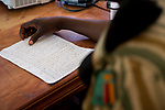 Anti-poaching scout during SMART training, Sioma, western Zambia