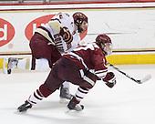 Paul Carey (BC - 22), Justin Braun (UMass - 27) - The Boston College Eagles defeated the University of Massachusetts-Amherst Minutemen 2-1 (OT) on Friday, February 26, 2010, at Conte Forum in Chestnut Hill, Massachusetts.