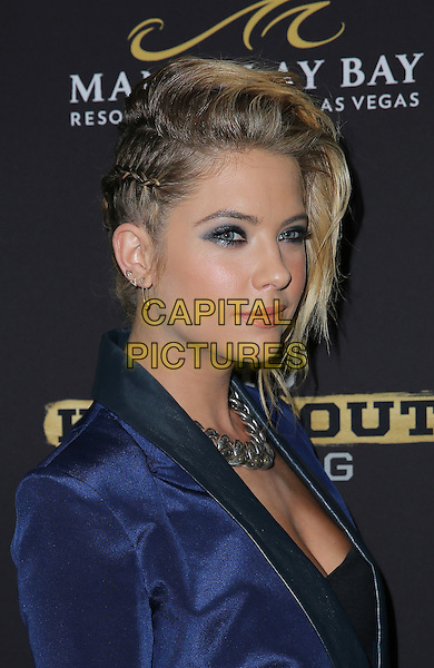 16 August 2014 - Las Vegas, Nevada - Ashley Benson. Big Knockout Boxing Inaugural Event Celebrity Red Carpet at Mandalay Bay Events Center.   <br /> CAP/ADM/MJT<br /> &copy; MJT/AdMedia/Capital Pictures