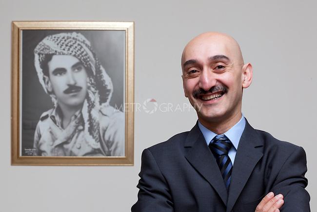 "SULAIMANIYAH, IRAQ: Shapoal Ali Askar, a politician for the Kurdish Goran ""Change"" Party and son of Shahid Ali Askari...Photo by Metrography"