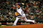13 September 2008: Cleveland Indians' pitcher Masa Kobayashi on the mound in relief against the Kansas City Royals at Progressive Field in Cleveland, Ohio. The Royals defeated the Indians 8-4 in the second game, sweeping their double-header...Mandatory Photo Credit: Ed Wolfstein Photo