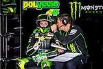 The rider Pol Espargaro in the box during free practice on friday at the circuit Sachenring. MotoGP. Germany. 11/07/2014. Samuel de Roman / Photocall3000