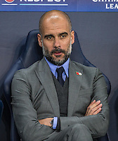 Manchester City Manager (Head Coach) Josep Guardiola during the UEFA Champions League match between Manchester City and Barcelona at the Etihad Stadium, Manchester, England on 1 November 2016. Photo by Andy Rowland / PRiME Media Images.