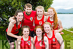 The Fossa crew  celebrate after winning the u16 race on the lake at the Killarney Regatta in Killarney Golf and Fishing club on Monday front row l-r: Beth Coffey, Laura Weldon, Sarah doody, back row: Ciara Griffin, Donal Daly, Aoife Doody and Ellen Sheehan