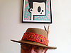 Self Portrait wearing a Mexican Hat.<br />