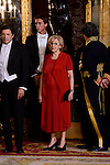 Madrid Mayor Manuela Carmena during the gala dinner given to the President of the Argentine Republic, Sr. Mauricio Macri and Sra Juliana Awada at Real Palace in Madrid, Spain. February 19, 2017. (ALTERPHOTOS/BorjaB.Hojas)