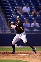 Bradenton Marauders right fielder Kevin Krause (6) at bat during a game against the Tampa Yankees on April 15, 2017 at George M. Steinbrenner Field in Tampa, Florida.  Tampa defeated Bradenton 3-2.  (Mike Janes/Four Seam Images)