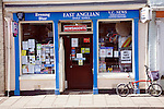 Typical small traditional newsagents shop Hadleigh Suffolk