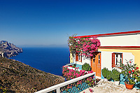 Traditional house of the village Olympos in Karpathos, Greece