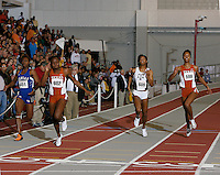 Univ. of Texas Freshman Bianca Knight set a Collegite Record in the 200m dash with a time of 22.40sec. at the 2008 NCAA Div. 1 Indoor Track and Field Championship on Friday, March 14, 2008 at the Randal Tyson Track Center. Photo by Errol Anderson,The Sporting Image.