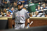 Ichiro Suzuki (Marlins),<br /> SEPTEMBER 14, 2015 - MLB :<br /> Ichiro Suzuki of the Miami Marlins walks back to the dugout from on-deck circle after the top of the second inning during the Major League Baseball game against the New York Mets at Citi Field in Flushing, New York, United States. (Photo by Hiroaki Yamaguchi/AFLO)