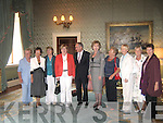 Members of Casteisland Probus pictured at Aras an Uachtarain last week. .L-R Shelia Hannon, Secretary Helen Pembroke, Nora O'Connor, Probus President, Siobhan Kearney, Dr Martin McAleese, President Mary McAleese, Margaret Geaney,  Treasurer Dolores Curtin, Milly Browne and Vice-President, Christa Vanhof