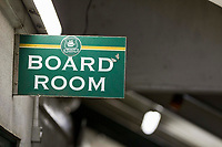 Sign for the Home Park board room ahead of the Sky Bet League 1 match between Plymouth Argyle and Fleetwood Town at Home Park, Plymouth, England on 7 October 2017. Photo by Mark  Hawkins / PRiME Media Images.