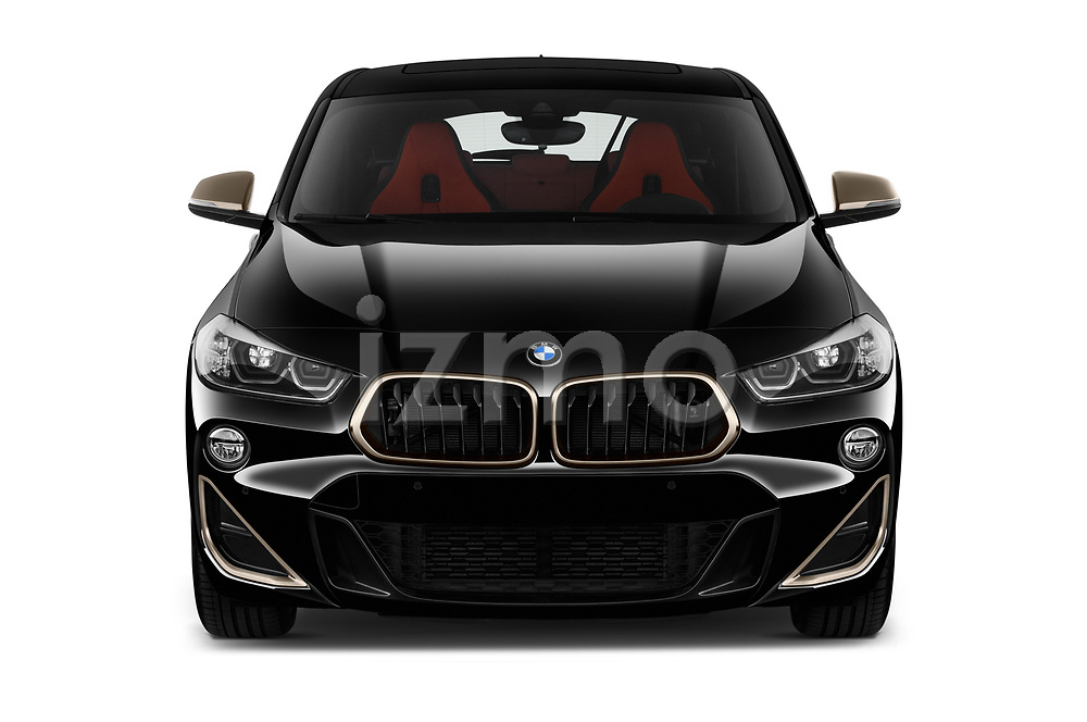 Car photography straight front view of a 2019 BMW X2 M35 5 Door SUV Front View