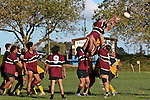 Tokoa Tou competes with the TK jumper at the front of a lineout. CMRFU Counties Power Cup Game of the Week between Te Kauwhata & Puni played at Te Kauwhata on Saturday May the 3rd, 2008..Te Kauwhata led 5 - 0 at halftime & went on to win 29 - 0.