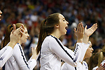 KANSAS CITY, KS - DECEMBER 14: The Penn State University bench cheers on the starters against the University of Nebraska during the Division I Women's Volleyball Semifinals held at Sprint Center on December 14, 2017 in Kansas City, Missouri. (Photo by Tim Nwachukwu/NCAA Photos via Getty Images)