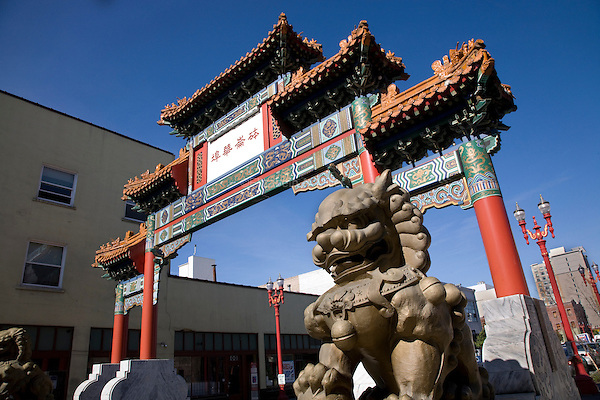 07 October 2009 - Portland, Oregon - The Chinatown Gate in Old Town, Portland.  Photo Credit: Elizabeth A. Miller/Sipa Press
