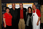 Waterbury, CT 042319MK10 (from left)  Francine Nido, national secretary, Michael Lawson, Frank Travisanp, president, Cindy Lawson and Bob Rinaldi gathered for the during the third annual UNICO meatball contest at the Palace Theatre Tuesday evening.  Francine Nido, national secretary, said this was the third year for the event with eleven local restaurants participating and two-hundred twenty-five pre-paid ticket holders along with many hungry people paying at the door.  Nido stated that the funds raised during this contest will benefit local scholarships and charities.   Michael Kabelka / Republican-American