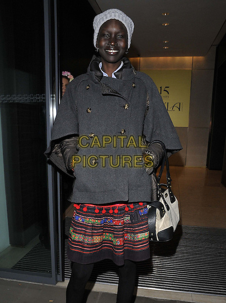 LONDON, ENGLAND - OCTOBER 21: Alek Wek attends the Myla luxury lingerie brand 15th anniversary party, The House of Myla, Stratton St., on Tuesday October 21, 2014 in London, England, UK. <br /> CAP/CAN<br /> &copy;Can Nguyen/Capital Pictures