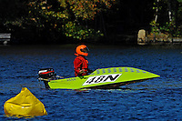 Frame 9: 24-J and 48-N  race into the turn, 48-N then catches the wake a spins out at speed. (runabout)