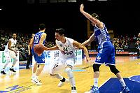 GRONINGEN - Basketbal, Donar - Landstede Zwolle , Martiniplaza,  halve finale beker, seizoen 2017-2018, 13-02-2018,  Donar speler Arvin Slagter in duel met Landstede speler Noah Dahlman