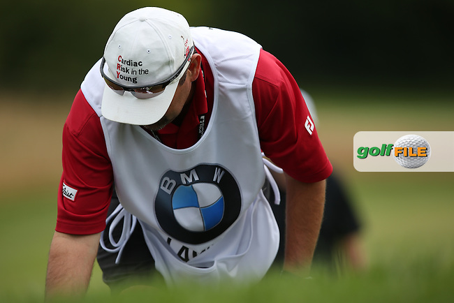 Close-up of Peter Lawrie (IRL) caddie's hat during Round Two of the BMW International Open 2014 from Golf Club Gut Lärchenhof, Pulheim, Köln, Germany. Picture:  David Lloyd / www.golffile.ie