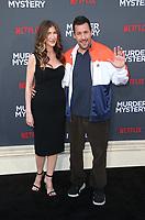LOS ANGELES, CA - JUNE 10: Adam Sandler, Jackie Sandler, at the Los Angeles Premiere Screening of Murder Mystery at Regency Village Theatre in Los Angeles, California on June 10, 2019. <br /> CAP/MPIFS<br /> ©MPIFS/Capital Pictures