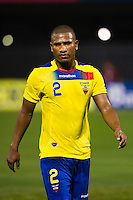 Jorge Guagua (2) of Ecuador. Ecuador defeated Chile 3-0 during an international friendly at Citi Field in Flushing, NY, on August 15, 2012.