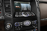 Stereo audio system close up detail view of a 2009 Infiniti FX50