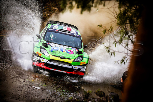03.03.2016. Leon, Mexico. WRC rally of Mexico. Shakedown and SS1 and SS2.  GUERRA  through the water splash